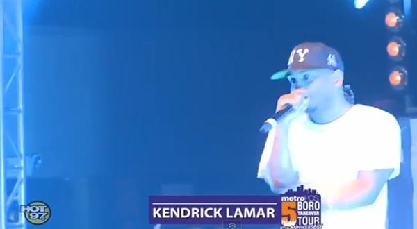 Kendrick Lamar Performs Swimming Pools Live At Hot97 Metro Pcs 5 Boro Takeover Tour