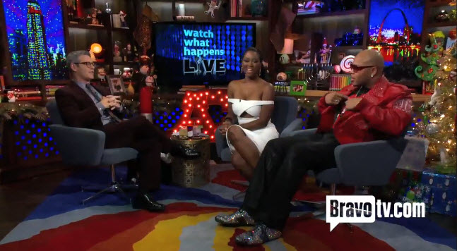 Kenya Moore and Flo Rida on the After Show