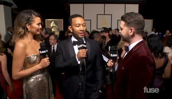 """Video: John Legend & Chrissy Teigen Disagree about """"Video Hoes"""" on GRAMMY Red Carpet #Getmybuzzup"""