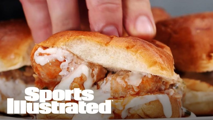 How To Make Buffalo Chicken Sliders | Football Food | Sports Illustrated