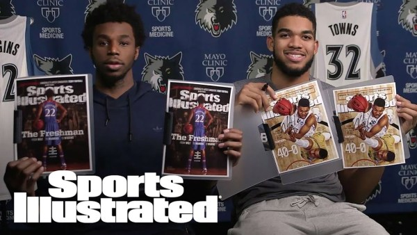 Andrew Wiggins & Karl-Anthony Towns React To First Sports Illustrated Cover | Sports Illustrated