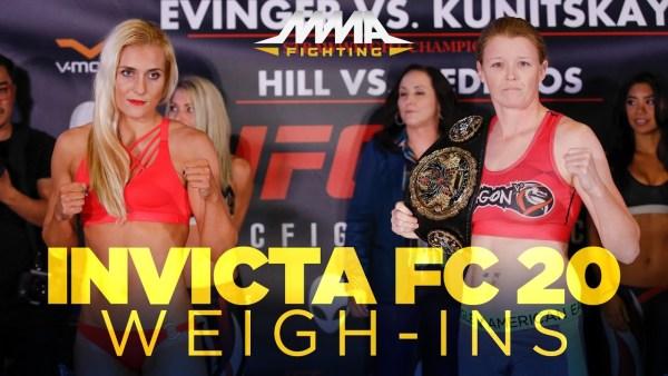 Invicta FC 20 weigh-in video