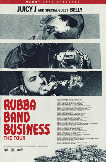 "JUICY J ANNOUNCES ""RUBBA BAND BUSINESS: THE TOUR"" [Music News]"