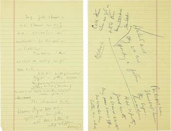 Uncensored John F. Kennedy campaign notes offered Dec. 3 at Heritage Auctions