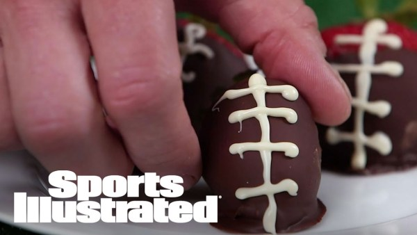 Chocolate-Covered Strawberry Footballs | Football Food | Sports Illustrated