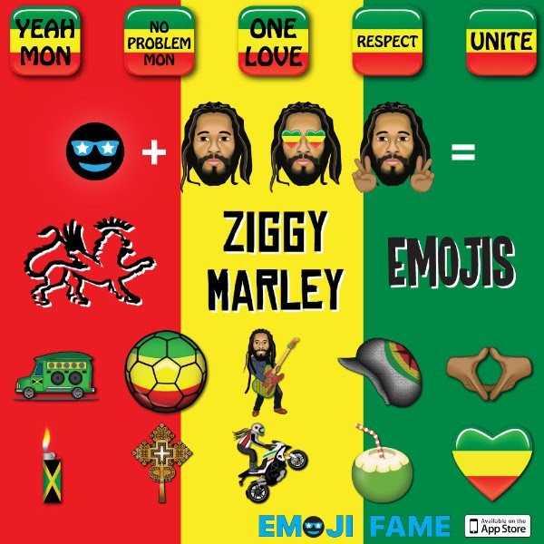 ?? Rastamojis ??: Ziggy Marley, Grammy-Winning Reggae Star, Releases Set of Custom Emojis In Conjunction With Emoji Fame