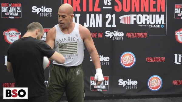 TITO ORTIZ Demonstrates How He Plans On Beating CHAEL SONNEN