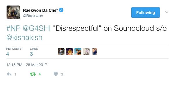 Wu-Tang Legend Raekwon Cosigns G4SHI on Twitter [Music News]