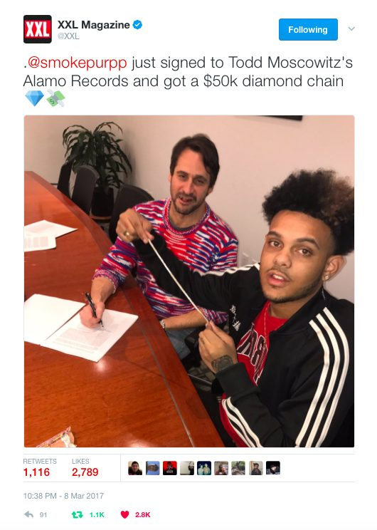 Smokepurpp signs to Todd Moscowitz's new label under Universal Music Group [Music News]