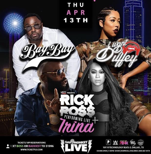Catch Rick Ross & Trina Live in Concert on April 13 at Gas Monkey Live