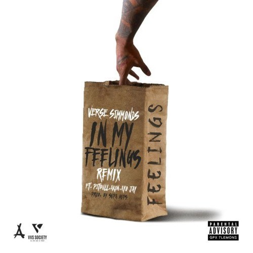 "Verse Simmonds Feat. Pitbull, Akon & Ayo Jay – ""In My Feelings"" (Remix) [Audio]"