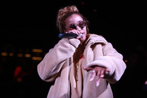 Celeb Sightings: Tinashe Takes A Break in San Diego at Oxford Social Club [Photos]