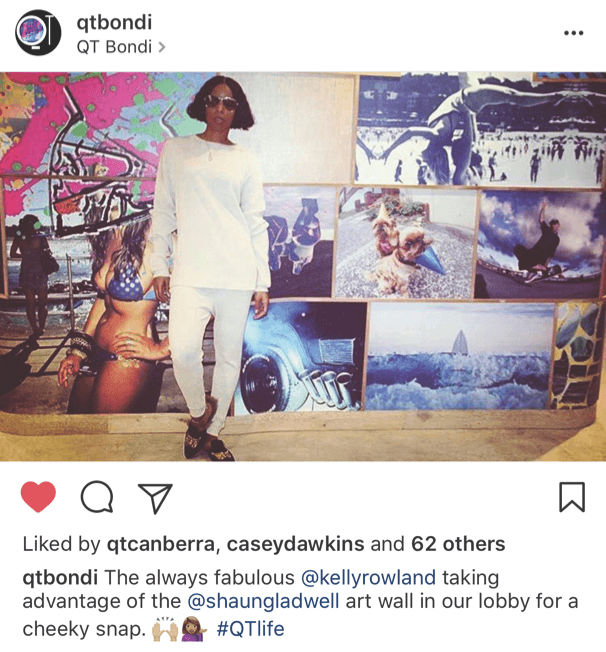 Kelly Rowland made a home away from at QT Bondi