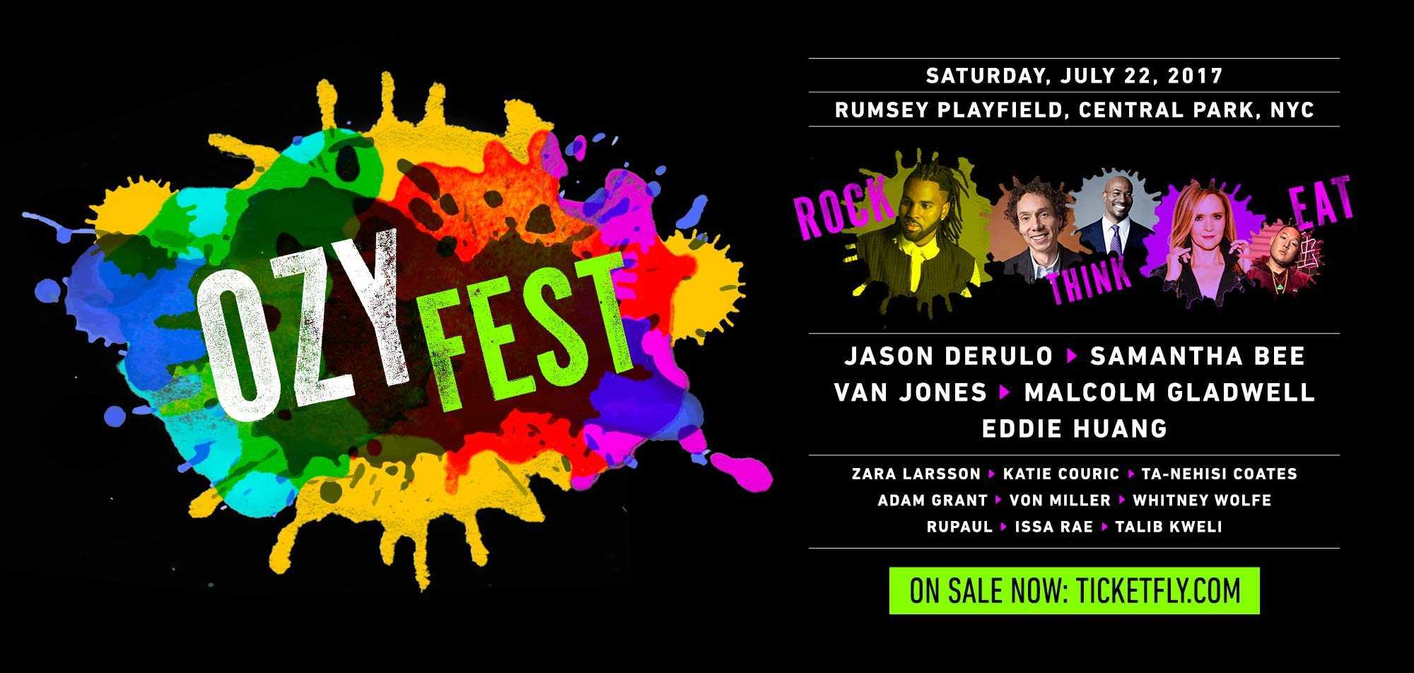 OZY Fest Ft. Jason Derulo, Talib Kweli, Van Jones, Ru Paul, and Von Miller on 7/22
