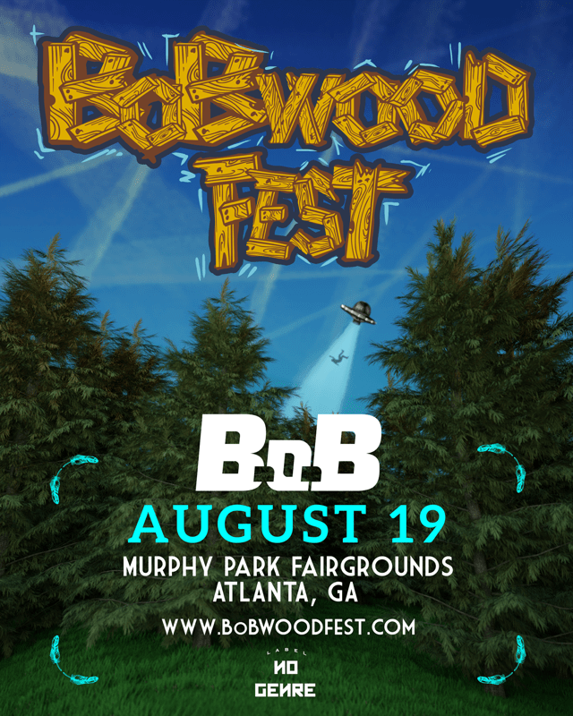 B.o.B ANNOUNCES 3rd ANNUAL BoBWOOD FEST IN ATLANTA AUGUST 19th!