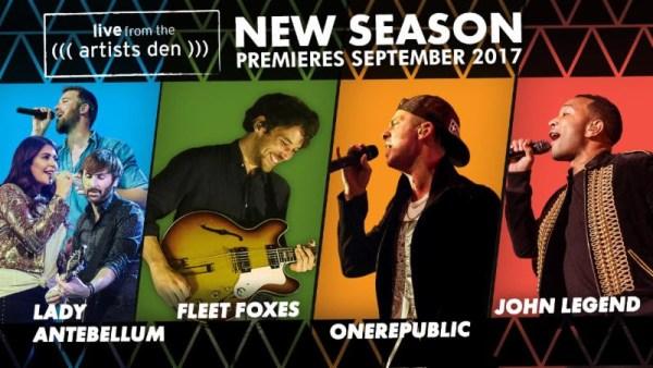 The Artists Den announces 12th season – John Legend, OneRepublic, Lady Antebellum, Fleet Foxes
