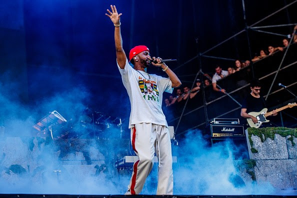 Big Sean Wears Daniel Patrick While Performing at Lollapalooza