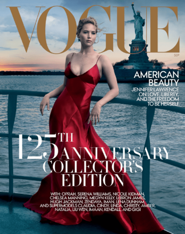Jennifer Lawrence Graces Vogue's September Cover Issue