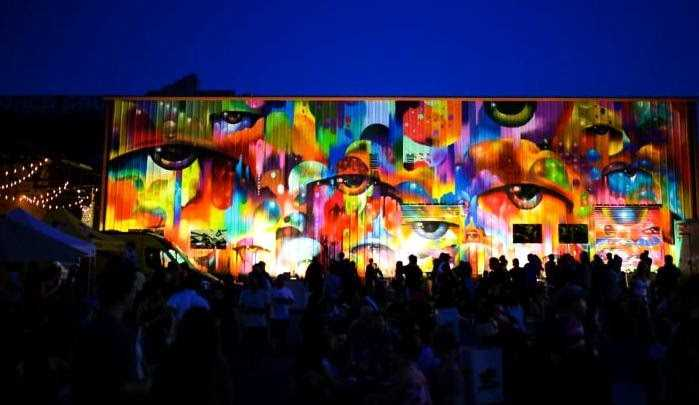 LA's Art District's Fresh Coat Mural Festival