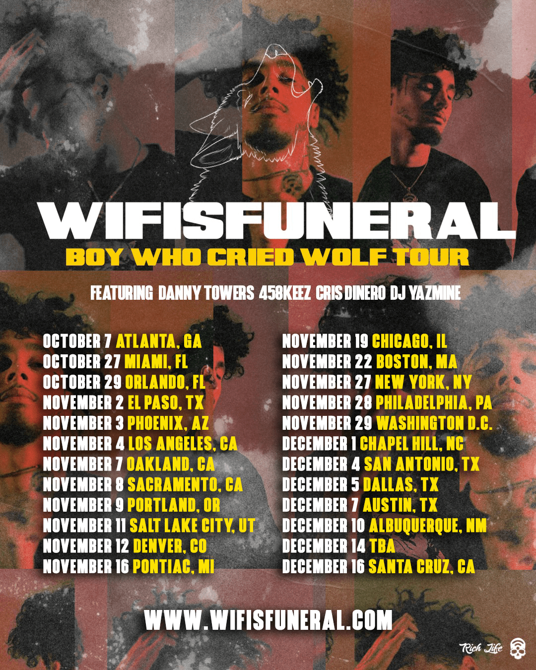 wifisfuneral Announces Boy Who Cried Wolf Tour