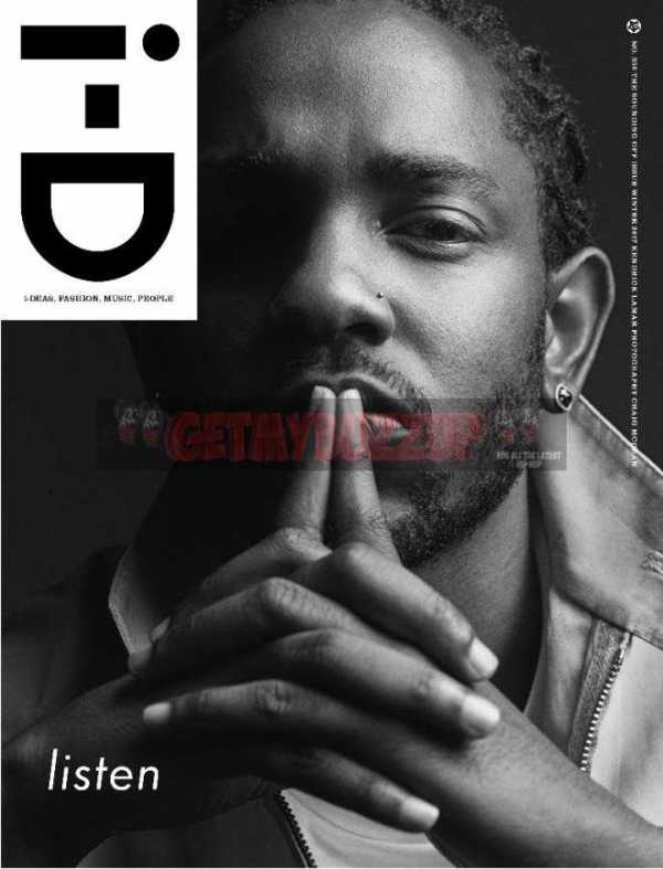 Kendrick Lamar Graces Cover of i-D Magazine's Winter 2017 Issue [Magazine Cover]