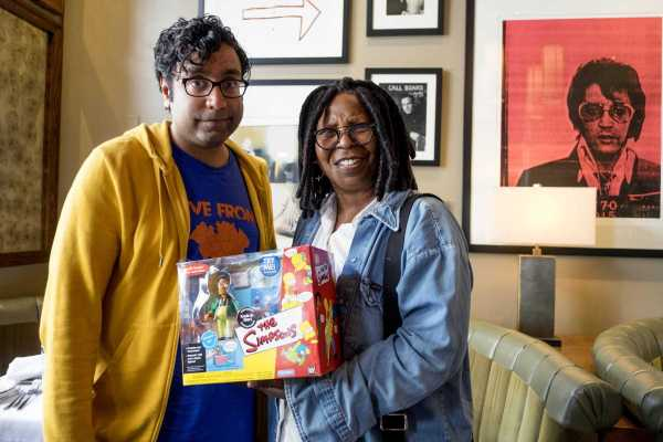 NEW YORK, NY - AUGUST 1: The Problem with Apu, by Hari Kondabolu filming with actress Whoopi Goldberg in New York, New York on August 1, 2016. (photo by David Scott Holloway / ™ & © 2016 Turner Entertainment Networks. A Time Warner Company. All Rights Reserved.)