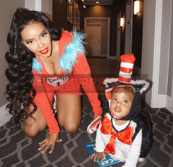 Angela Simmons Dresses As Thing 1 for Halloween Party [Photos]