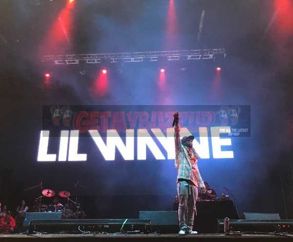 """Lil Wayne Performed Hit After Hit, Including """"A Milli,"""" """"Lollipop,"""" and """"Go DJ"""" (Credit: Audible Treats)"""