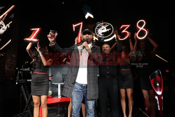 LAS VEGAS, NV - NOVEMBER 09:  Jay Claxton (c) hosts The Remy Martin Producers Series Season 4 Finale on November 9, 2017 in Las Vegas, Nevada.  (Photo by Johnny Nunez/Getty Images for Remy Martin)