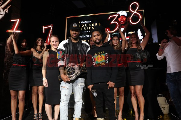 LAS VEGAS, NV - NOVEMBER 09:  Severe Jones (c) and Zaytoven (r) attend The Remy Martin Producers Series Season 4 Finale on November 9, 2017 in Las Vegas, Nevada.  (Photo by Johnny Nunez/Getty Images for Remy Martin)