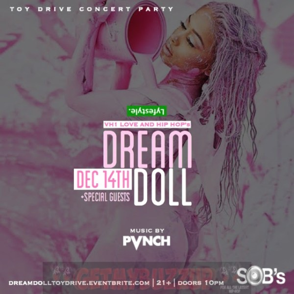 #LHH DREAM DOLL IS HAVING A TOY DRIVE PARTY AT SOB'S
