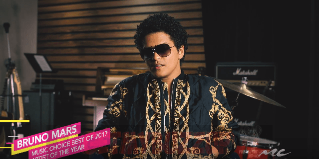 "Bruno Mars ""That's What I Like"" Tops Music Choice Best of 2017"