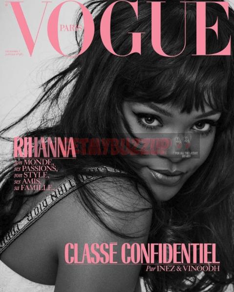 Rihanna Graces the December Cover of Vogue Paris [Magazine Cover]