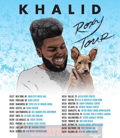 """KHALID ANNOUNCES """"THE ROXY TOUR"""" [Music News]"""