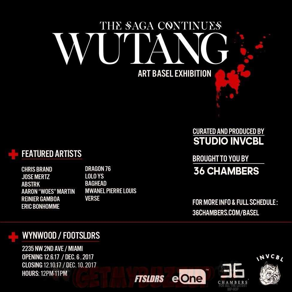 """Wu-Tang: The Saga Continues"" Art Basel Exhibition This Week in Miami"