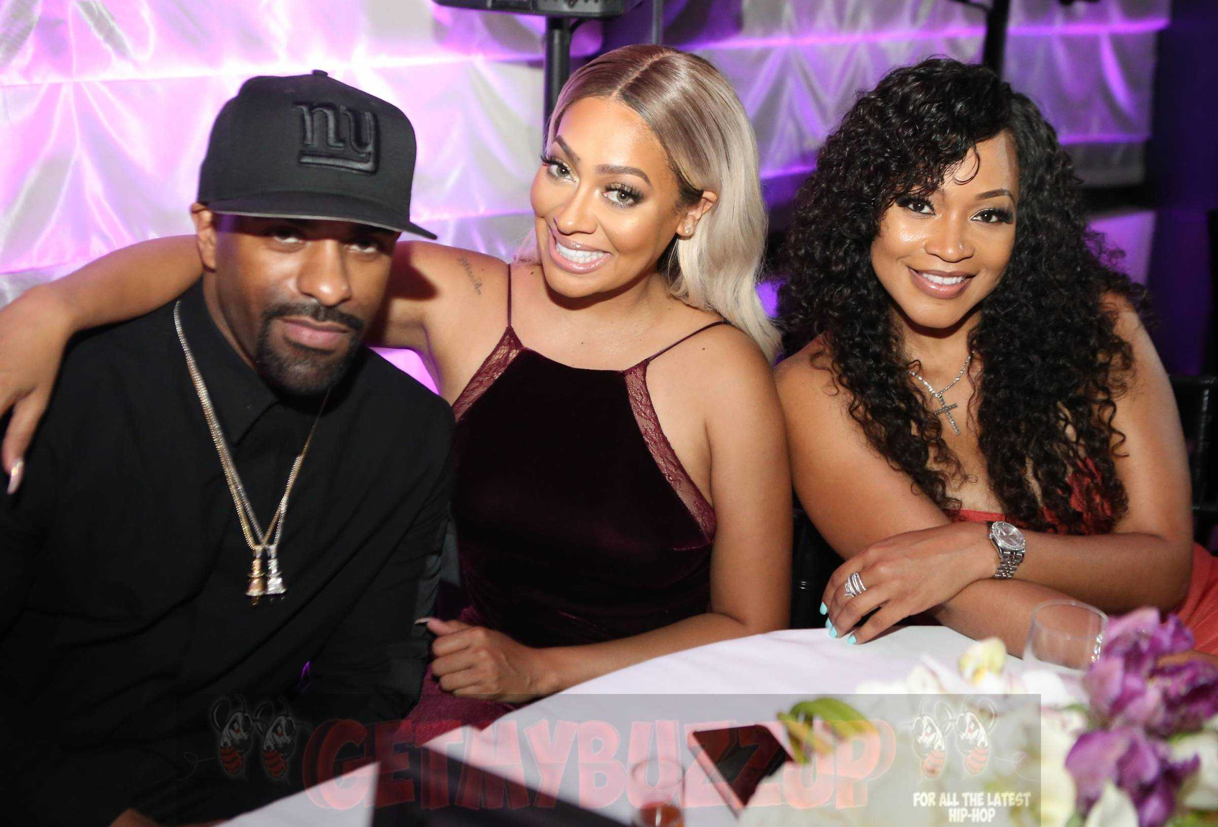 Lala Anthony, DJ Clue and Kenny Burns Spotted in Miami [Photos]