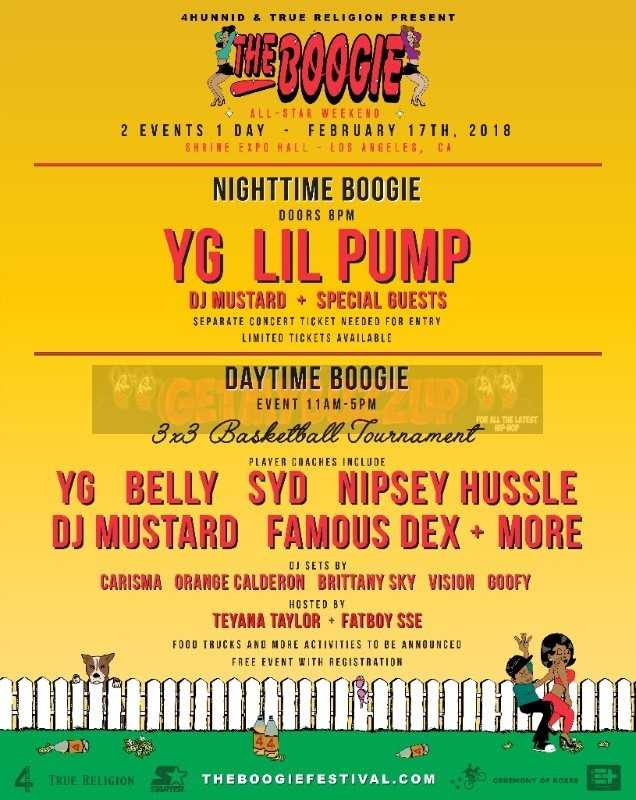 "YG, 4HUNNID, GOLDENVOICE & TRUE RELIGION ANNOUNCE DETAILS FOR 1ST ANNUAL""THE BOOGIE"""