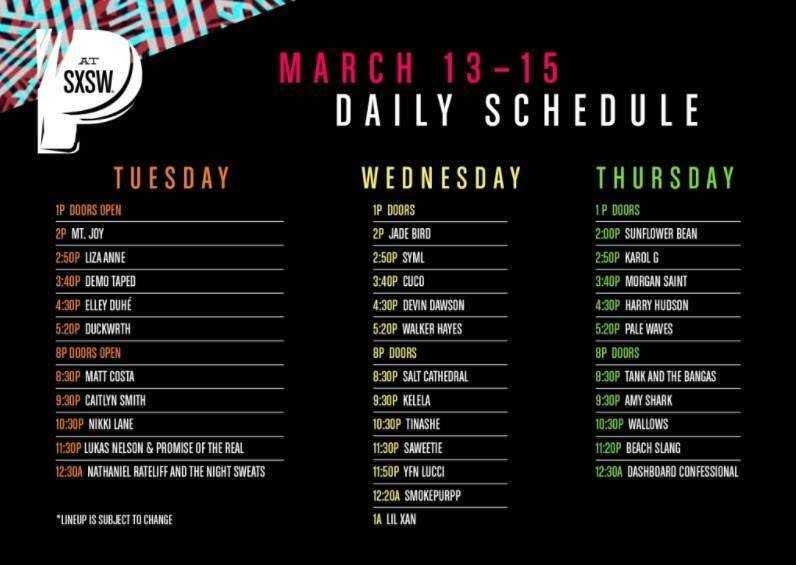 Pandora Announces SXSW Daily Schedule / Lineup [Event]