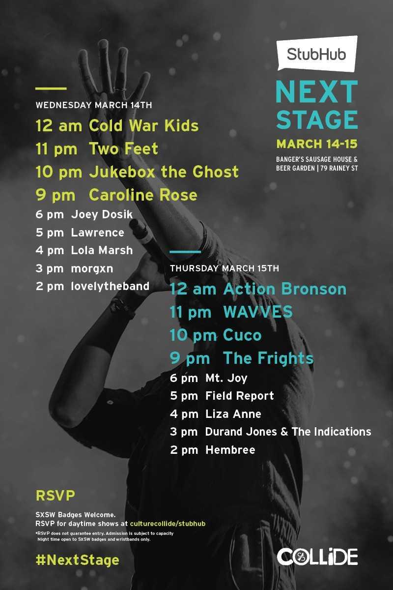 StubHub Announces SXSW Showcase: Cold War Kids, Action Bronson, WAVVES Among Headliners [Event]