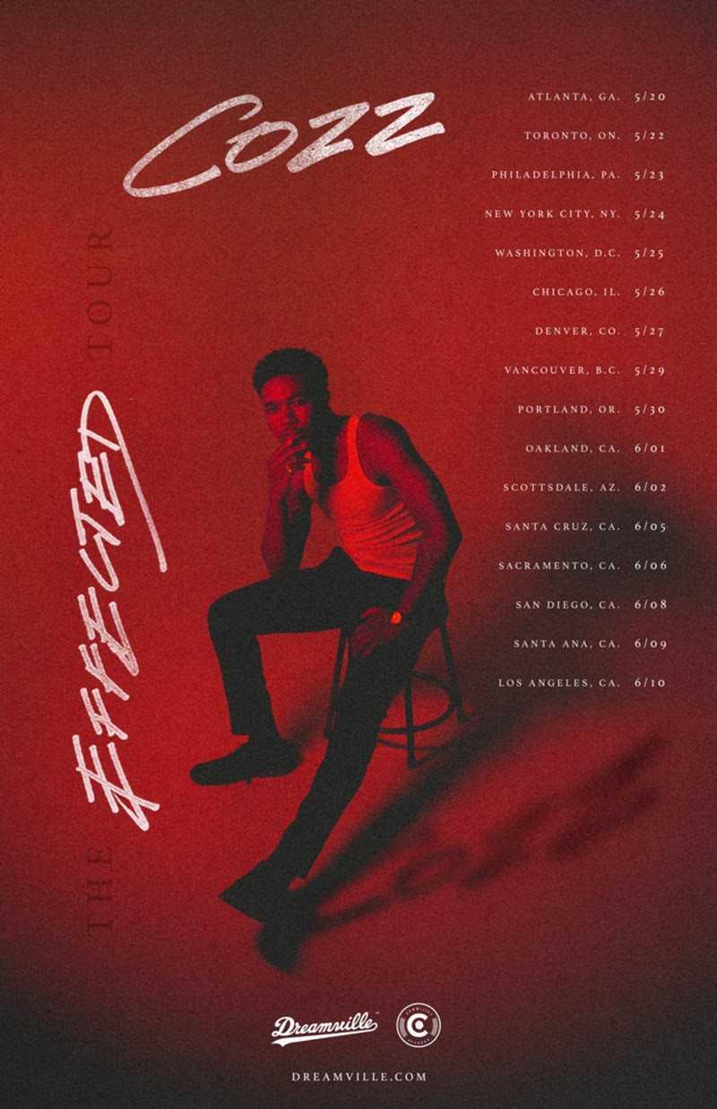 """Dreamville Rapper Cozz Announces """"The Effected Tour"""" [Tour]"""