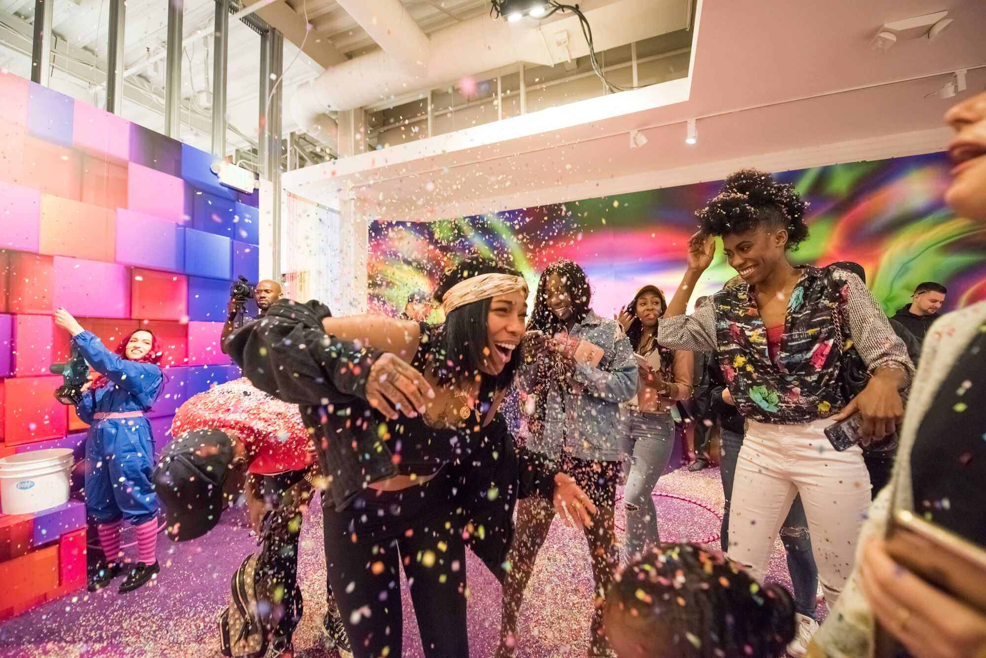 Dreka Gates Spends Opening Day of CandyTopia Art Exhibit [Photos]
