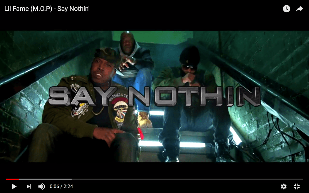 Lil Fame (M.O.P) | Say Nothin' [Video]