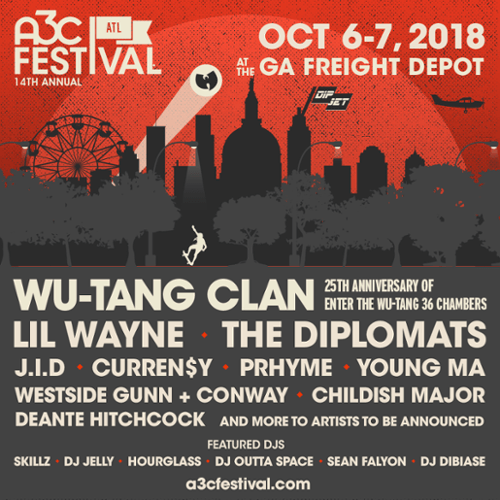 Wu-Tang, Lil Wayne, The Diplomats + more to perform at 2018 A3C Festival