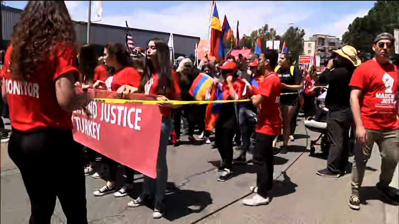 Armenian-Americans March For Genocide Recognition