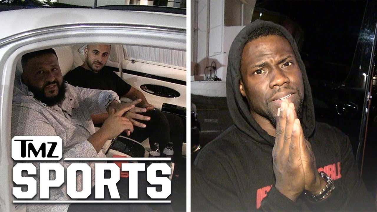 DJ Khaled and Kevin Hart Go to War Over Heat vs. 76ers!!! | TMZ Sports