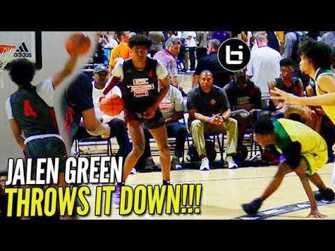 Jalen Green WINDMILL Starts Adidas Session II w/ a BANG! EBO vs Celtics Highlights!
