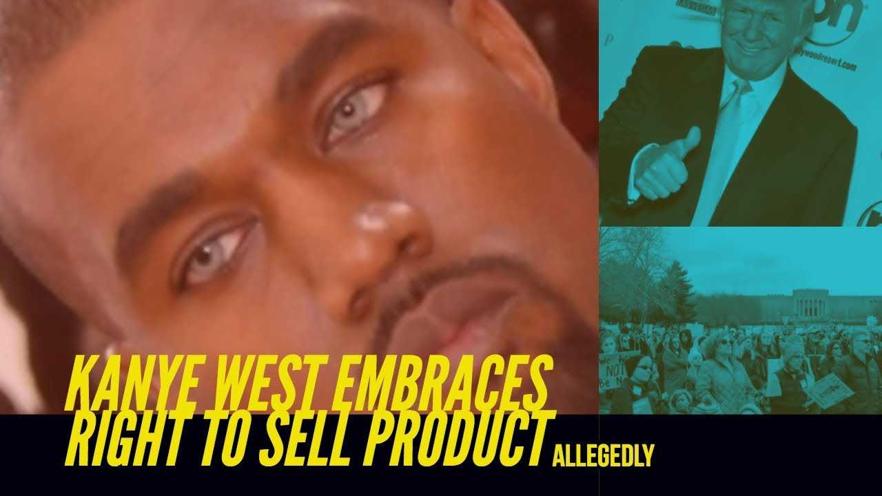 Kanye West aka Kardashye Embraces The Right to Promote His Products | Allegedly