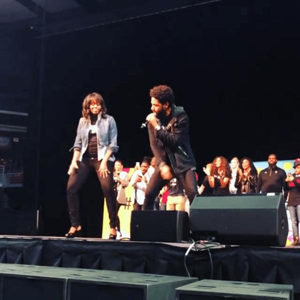 Michelle Obama Dancing w/ Jussie Smollett | College Signing Day [Video]