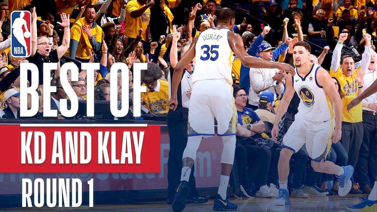 Best Of KD & Klay In Round 1!