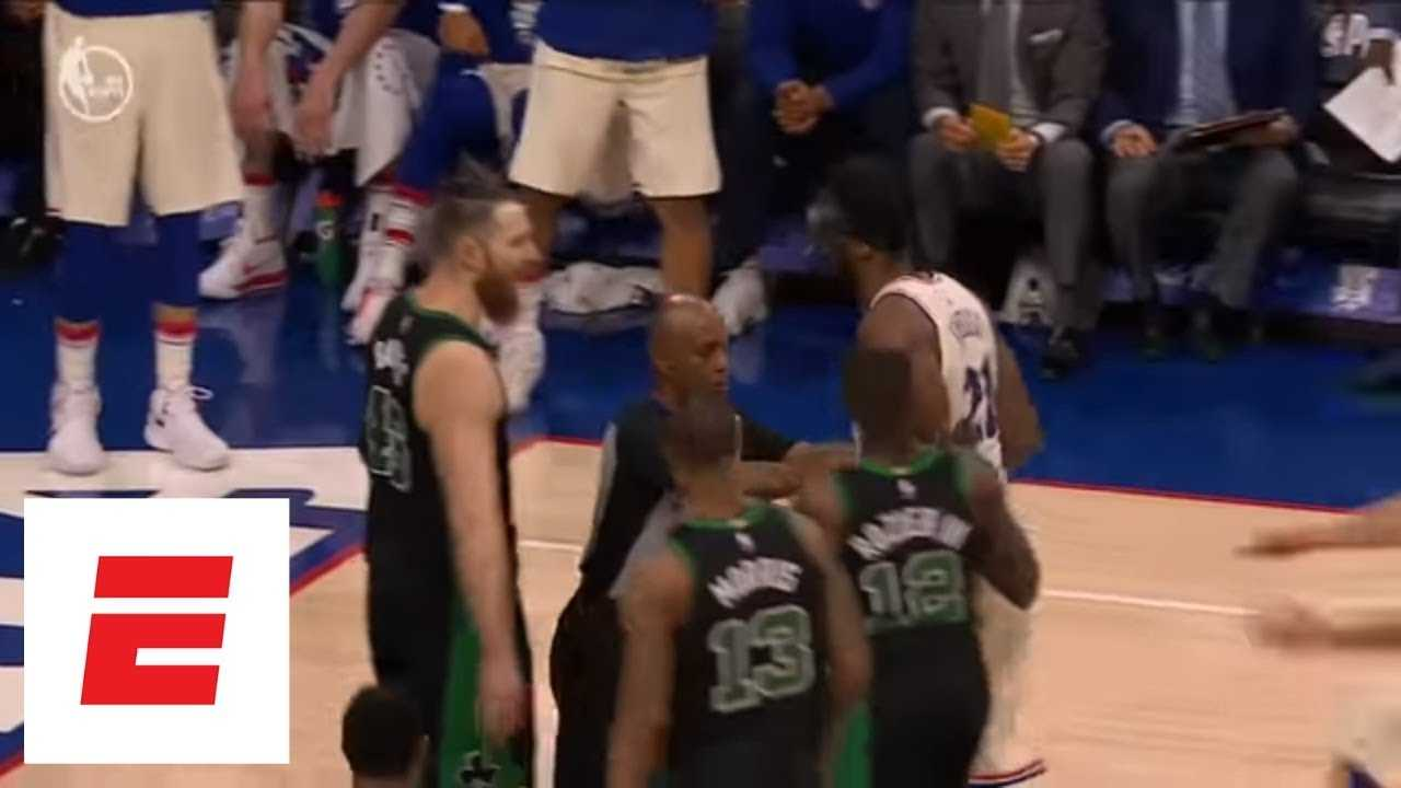 Joel Embiid and Aron Baynes exchange war of words as things get chippy in Game 3   ESPN